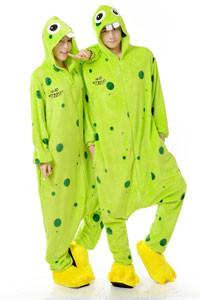 Kigurumi Onesie Green Buckteeth-UNIQSO