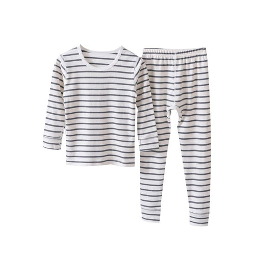 Brand New Stripe Pajama Set- Black