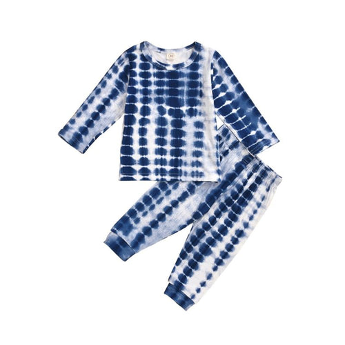 Brand New Navy Tie Dye Pajama Set- Navy