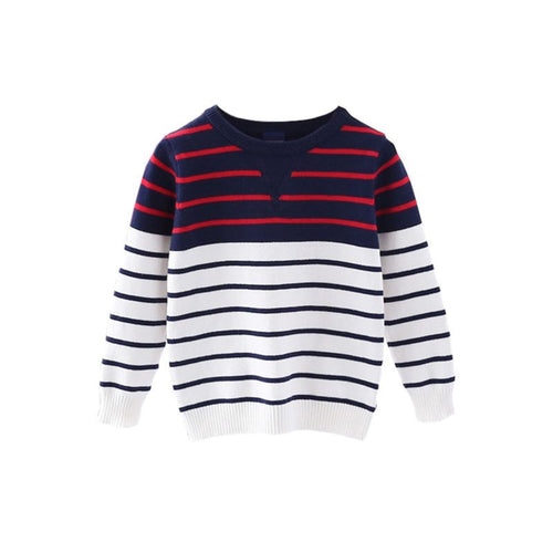 Brand New Boys Knit Sweater- Red, White and Blue