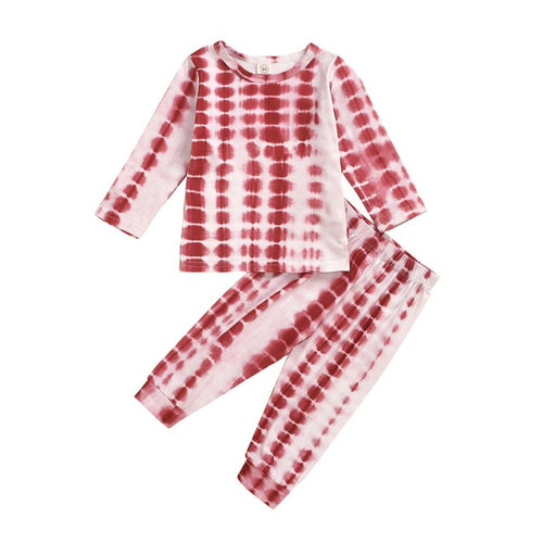 Brand New Red Tie Dye Pajama Set- Red