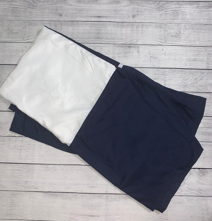 Navy Blue Crib Skirt