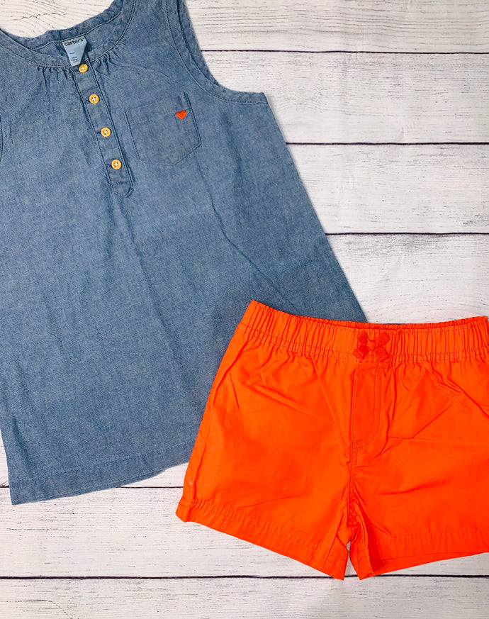 Carter's Shorts set- size 4T