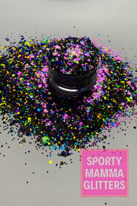 Pink Purple Yellow Mix Glitter | Birthday Blowout Glitter | Mix Glitter | Premium Quality Glitter |  Glitter | Bulk Glitter | 2oz Glitter