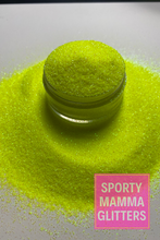 Load image into Gallery viewer, Batter Up Fine | Neon Yellow Glitter | Yellow Glitter | Premium Quality Glitter | Fine Glitter