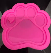 Load image into Gallery viewer, Paw Print Mold | Shiny Silicone Mold | Keychain Mold