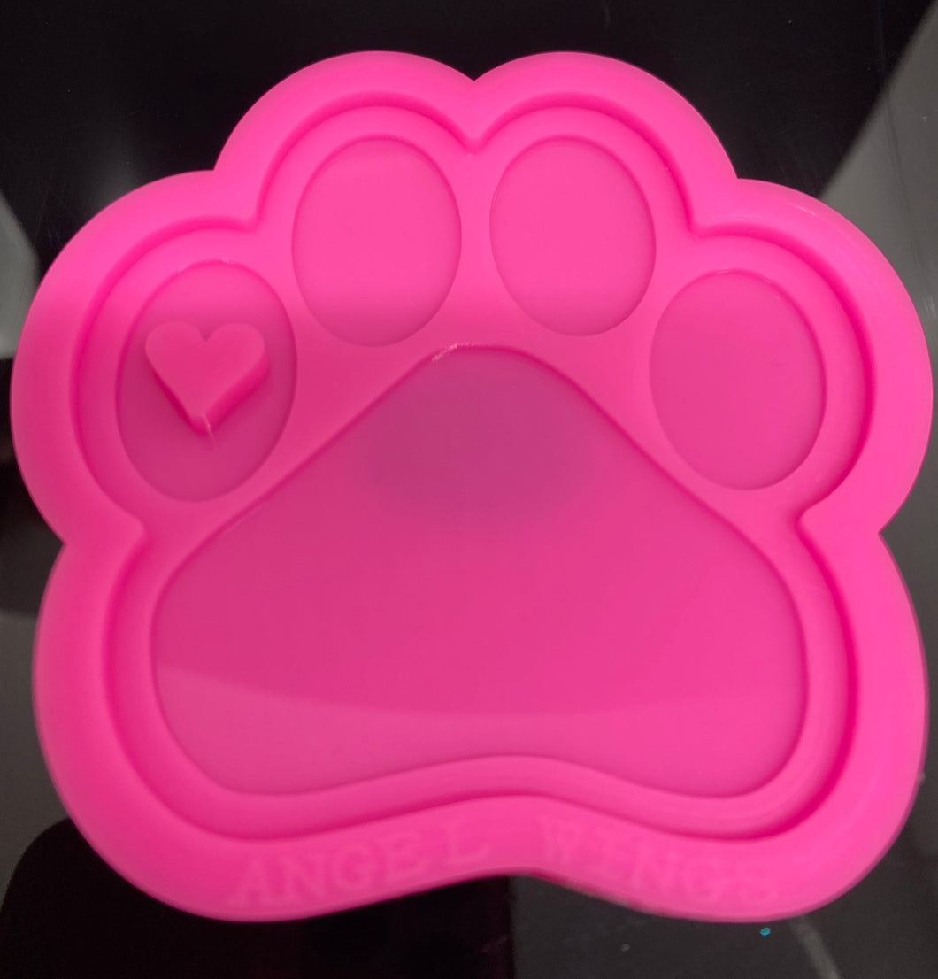 Paw Print Mold | Shiny Silicone Mold | Keychain Mold