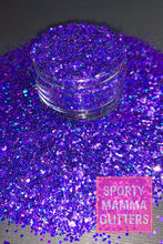 Load image into Gallery viewer, Chunky Vikings Purple Glitter | Purple Glitter | Royal Purple Glitter | Premium Quality Glitter | Chunky Glitter | Bulk Glitter | 2oz Glitte