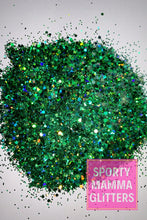 Load image into Gallery viewer, Emerald Green Mix Glitter | Green Mix Glitter | Mix Glitter | Premium Quality Glitter |  Glitter | Bulk Glitter | 2oz Glitter