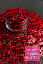 Load image into Gallery viewer, Garnet Red Mix Glitter | Red Mix Glitter | Mix Glitter | Premium Quality Glitter |  Glitter | Bulk Glitter | 2oz Glitter