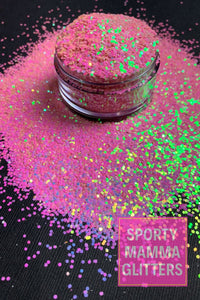 Cotton Candy Glitter | Color Shift Glitter | Blue Pink Color Shift | Premium Quality Glitter | Chunky Glitter | Bulk Glitter | 2oz Glitter