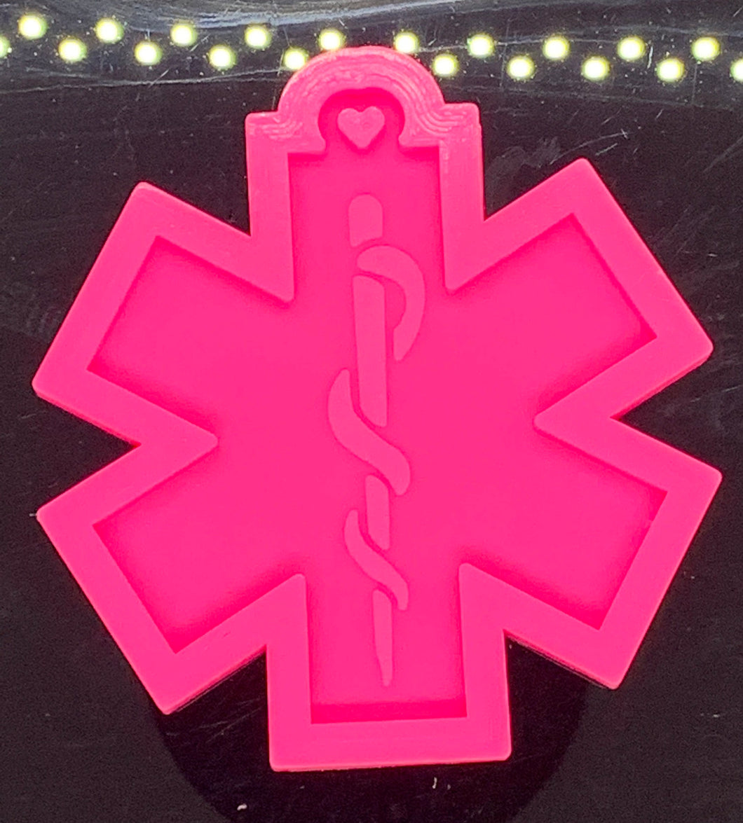 Star of Life mold | shiny silicone | keychain mold