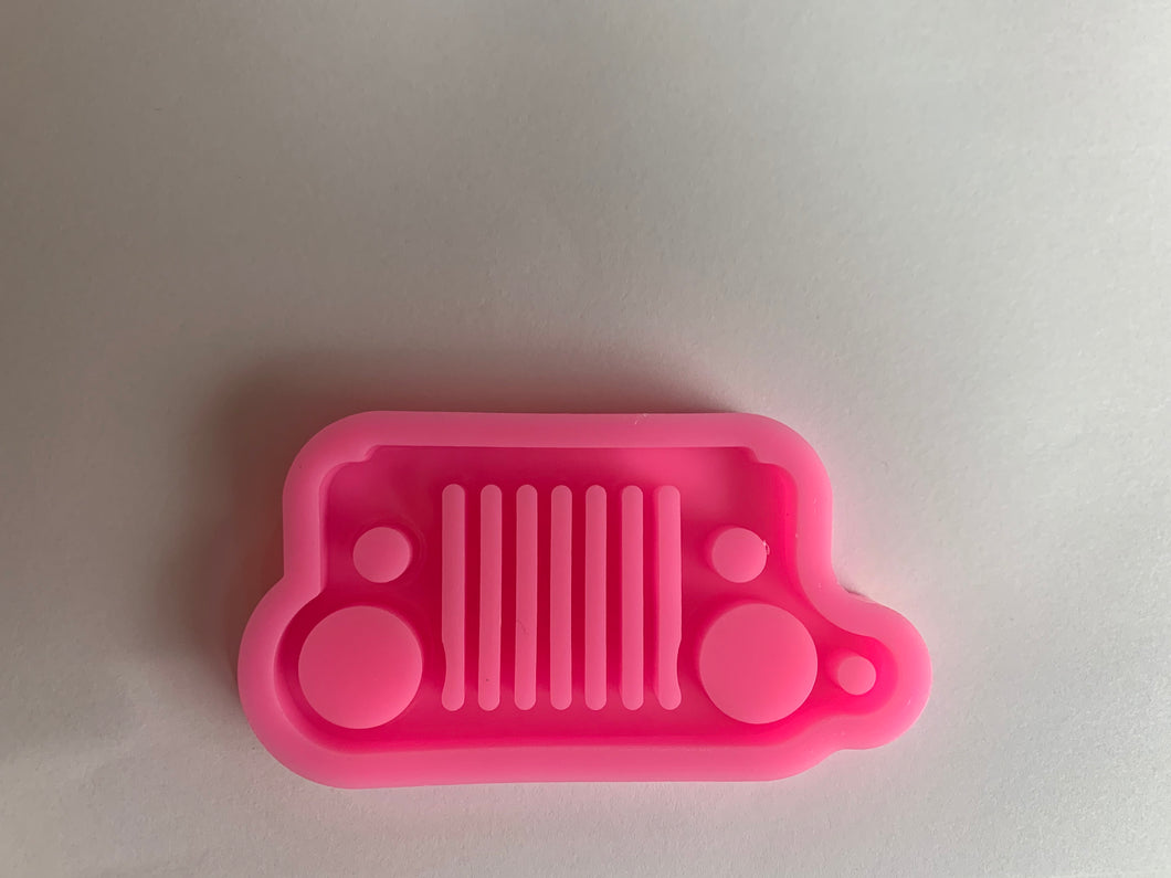 Jeep Grill mold | shiny silicone | key chain mold