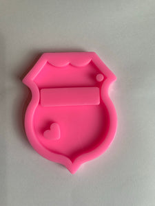 Police badge mold | shiny silicone | keychain mold