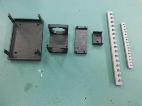 Turbine accessories bracket set.