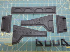 Diamond 3D printed carbon fiber door kit.