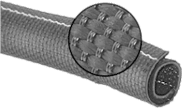 Heat protecting wrap-around cable sleeve per meter