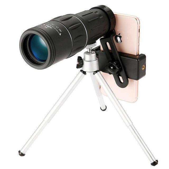 5ZOOM™ - High Power Prism Monocular Telescope 5ZOOM™ - High Power Prism Monocular Telescope TELESCOPE + PHONE CLIP + EXTENDABLE TRIPOD