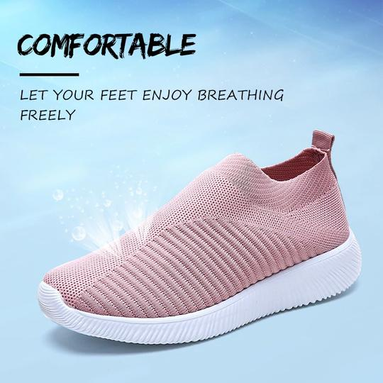 WOMEN'S BREATHABLE FLAT BOTTOM COMFORT SHOE