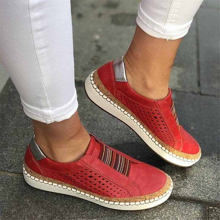 Hollow-Out Round Toe Women Casual Sneakers [Clearance SALE: Pay 2 Get 3]