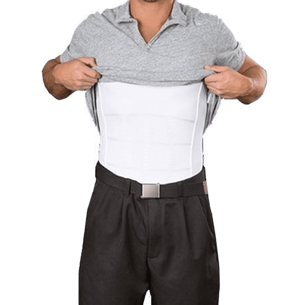 MEN'S BODY SHAPER SLIMMING UNDERSHIRT MEN'S BODY SHAPER SLIMMING UNDERSHIRT XXL / WHITE