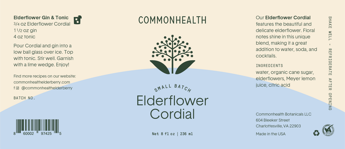 Elderflower Cordial - Commonhealth Elderberry