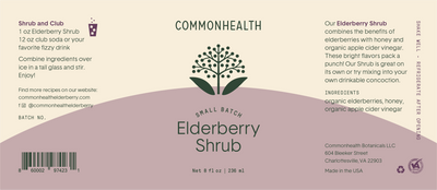 Elderberry Shrub - Commonhealth Elderberry