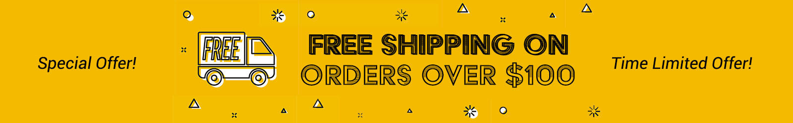 Special Time Limited Free Shipping