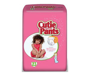 Cuties Training Pants for Girls with Refastenable Sides