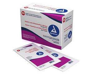 Dynarex Latex Exam Gloves Powder-Free Sterile - LARGE