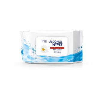 Multipurpose 75% Alcohol Wipes - Pack of 50
