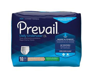 Prevail for Men Protective Underwear - Maximum Absorbency - White