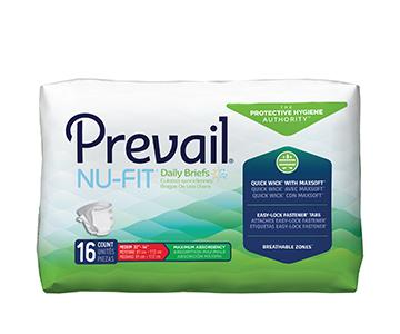Prevail Nu-Fit Briefs - Maximum Absorbency