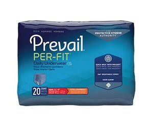 Prevail Per-Fit for Men Protective Underwear - Extra Absorbency - White