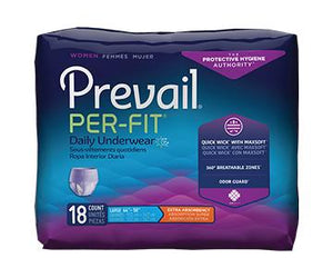 Prevail Per-Fit for Women Protective Underwear - Extra Absorbency - Lavender