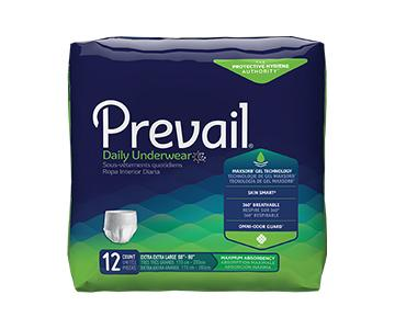 Prevail Protective Underwear - Maximum Absorbency - Unisex - White