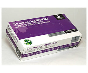 Shamrock Supreme Lightweight Nitrile Powder Free Exam Gloves