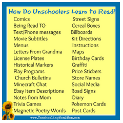 Unschoolers learn to read