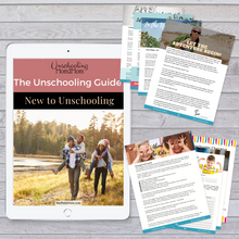 Load image into Gallery viewer, New Unschooler Guide: New to Unschooling!