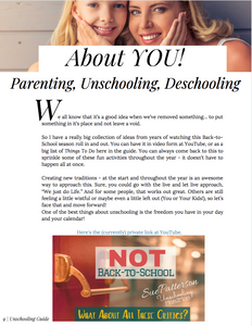The Unschooling Guide - Not Back-to-School