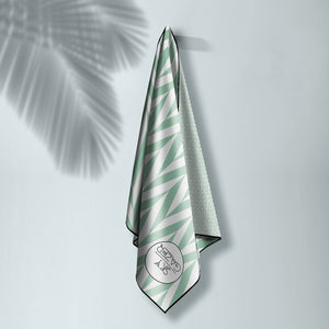 The Noosa Mint Luxury Sand Free Beach Towel with carry bag
