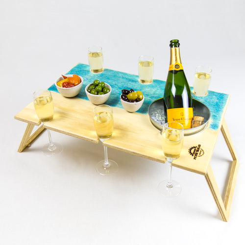 Banquet Blue Bay Folding Picnic Table with Ice Bucket