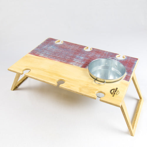 Banquet Sunset folding Picnic Table with Ice Bucket