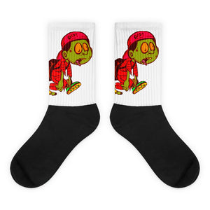 Infared Zombie Kid Socks