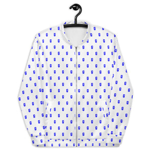 BLUE ALL OVER DRIP G BOMBER