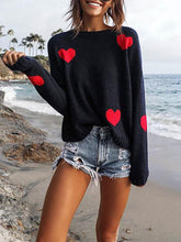 Load image into Gallery viewer, Casual Love Pattern Long Sleeve Sweater