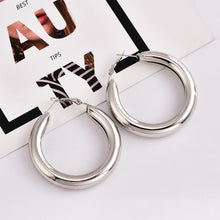 Load image into Gallery viewer, Popular Personality Thick Round Metal Women's Earrings