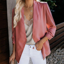 Load image into Gallery viewer, Leisure Long Sleeve Fold Over Collar Blazer