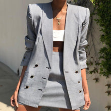 Load image into Gallery viewer, Formal A Lapel Pure Color Long Sleeve Blazer