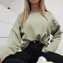 Load image into Gallery viewer, Women's Fashion Long Sleeve Pure Colour Sweater